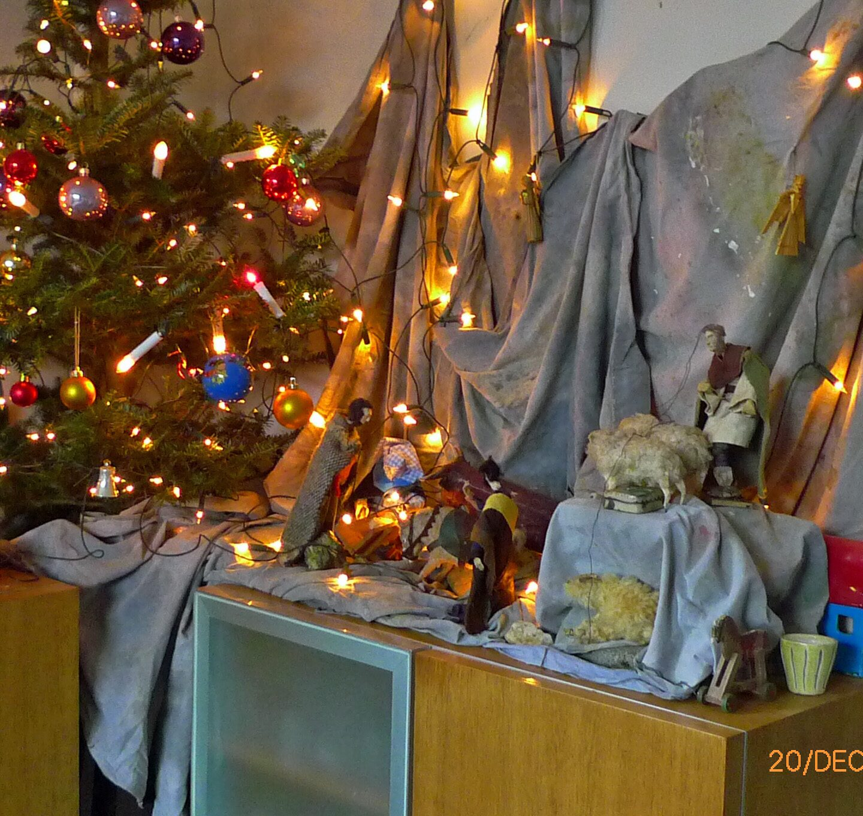 Zoals beloofd  in tijden van Corona: papier-maché: de kerststal