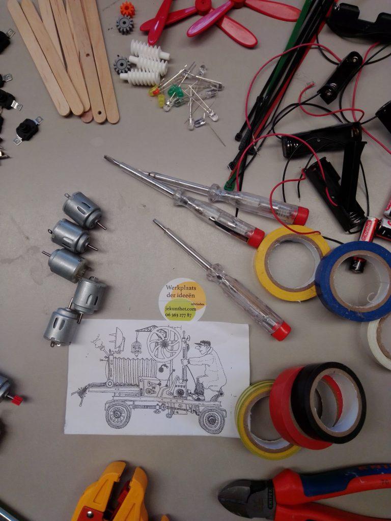 techniekpakketjes techniekles thuiswerken natuurkunde bovenbouw basisschool brugklas uitvinden wetenschap en techniek