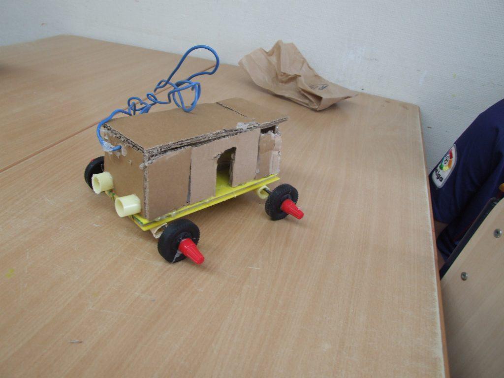 techniekles karton wielen wagens basisscholen werkplaats der ideeën